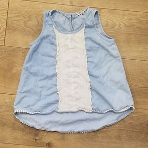 Lolli & Rose Top Light Blue Denim  {Girl's 10}